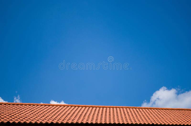 Dak en hemel stock foto