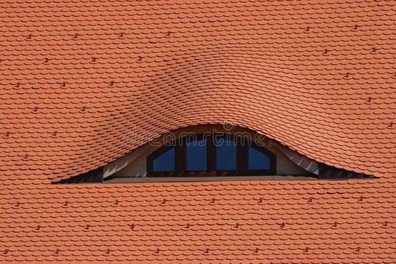 Dak met venster royalty-vrije stock foto
