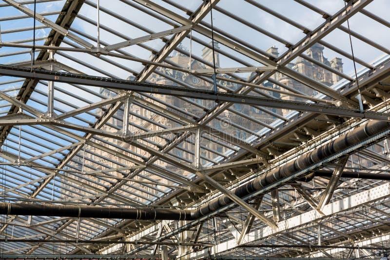 Dak van de Waverly-Post in Edinburgh, Schotland royalty-vrije stock afbeelding