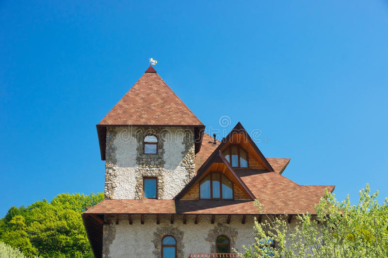 Dak van het huis royalty-vrije stock foto