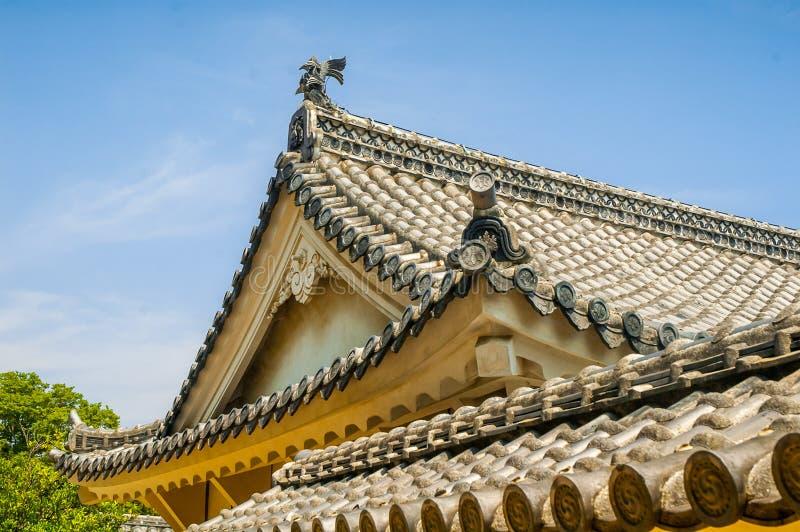 Dak van het kasteel van Himeji stock fotografie