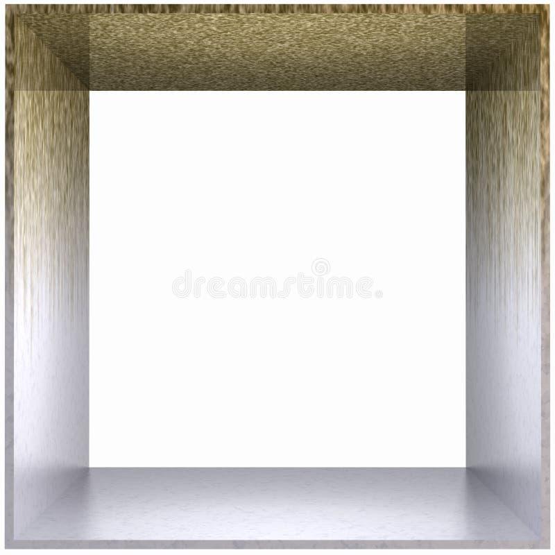 Dak van het Metaal van het Frame van de doos het Vuile royalty-vrije illustratie