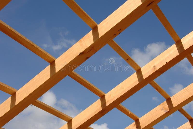 Dak van huis in aanbouw stock afbeelding