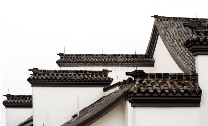 Dak van oud huis royalty-vrije stock afbeelding