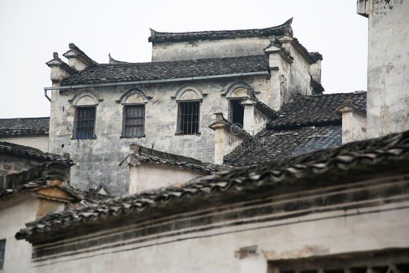 Dak van oud huis stock foto