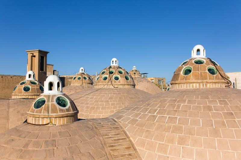 Dak van Sultan Mir Ahmed Hammam (bathhouse), Kashan stock afbeeldingen