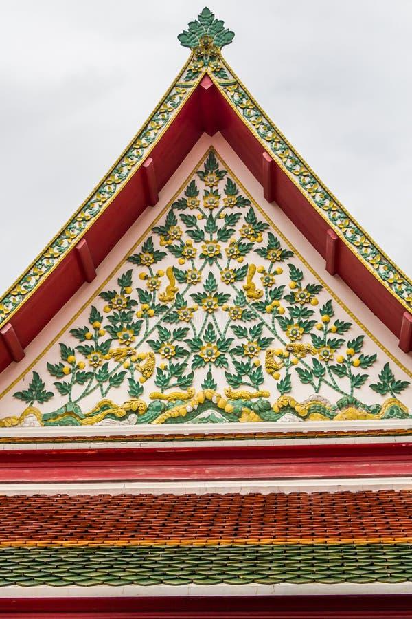 Dak van tempel Thailand royalty-vrije stock afbeeldingen