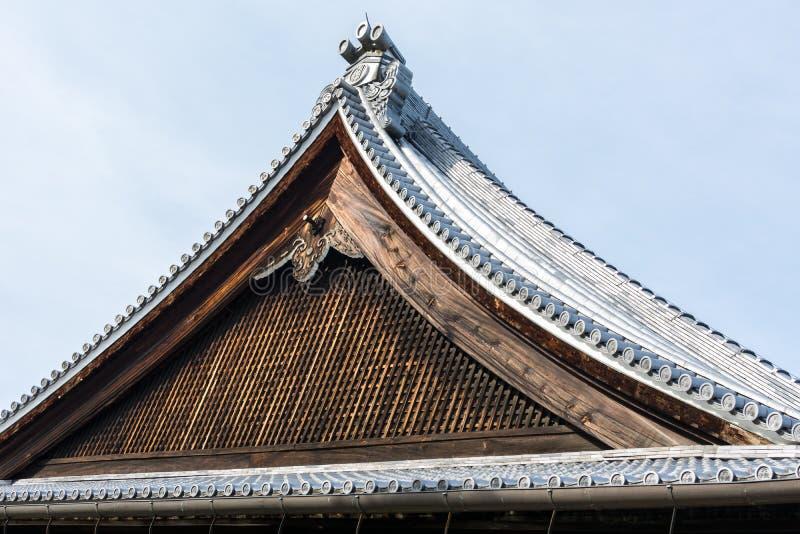 Dak van Tenryuji-Tempel stock foto's