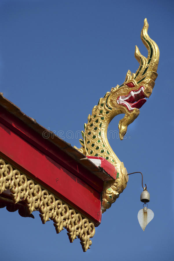 Dak van Wat Mani Phraison, Mae Sot, Tak-provincie, Thailand stock fotografie