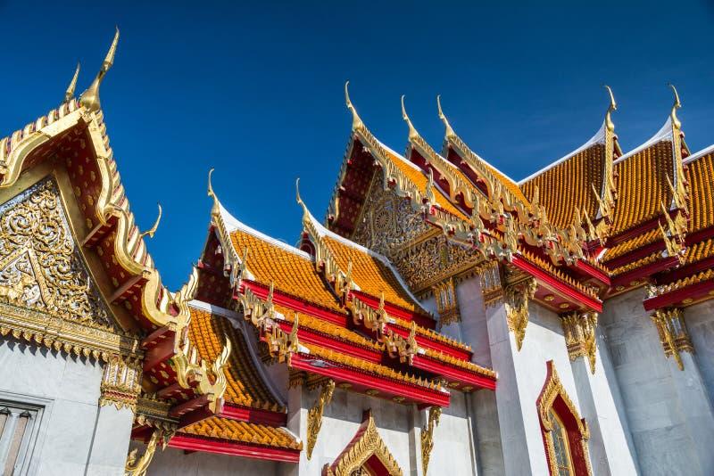 Dak van Wat Phra Kaew Grand Palace-Tempel, Emerald Buddha Bangkok, Thailand stock foto's