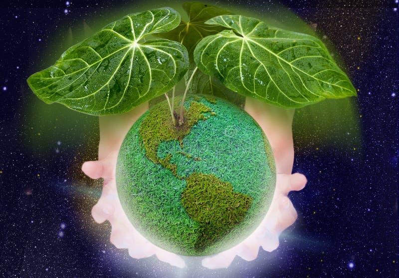 Dak voor groene planeet stock afbeelding