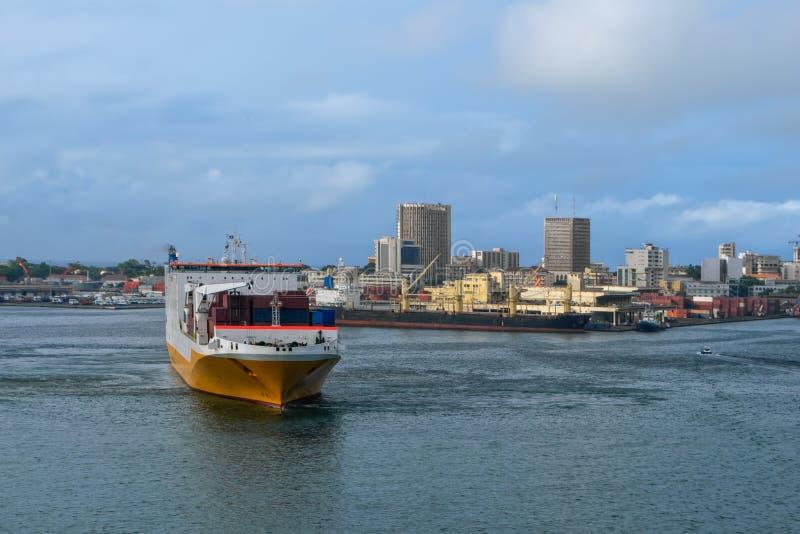 Dakar port royaltyfria bilder