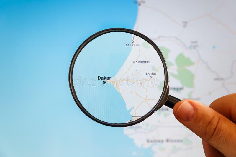 Dakar, S?n?gal carte u politique d'e photos stock