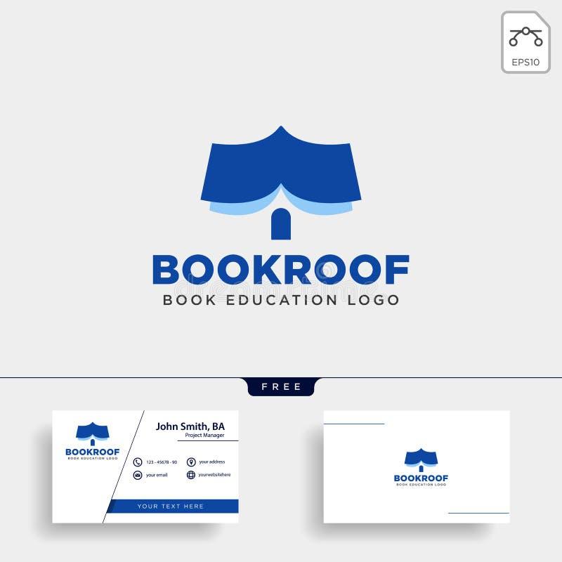 dakboekhandel of van het het embleemmalplaatje van het boekhuis het eenvoudige geïsoleerde element van het de illustratiepictogra vector illustratie