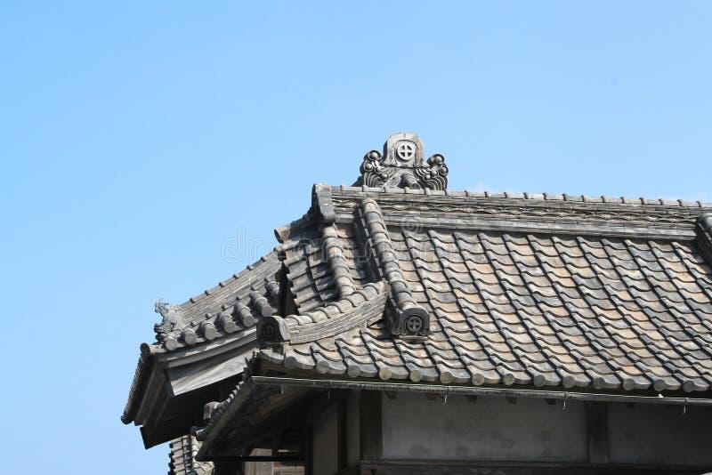 Dakeigenschap van Chinees architecturaal stijldak stock afbeelding