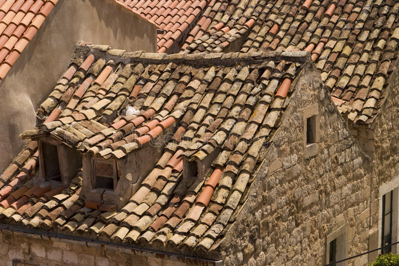 Daken in Dubrovnik royalty-vrije stock fotografie
