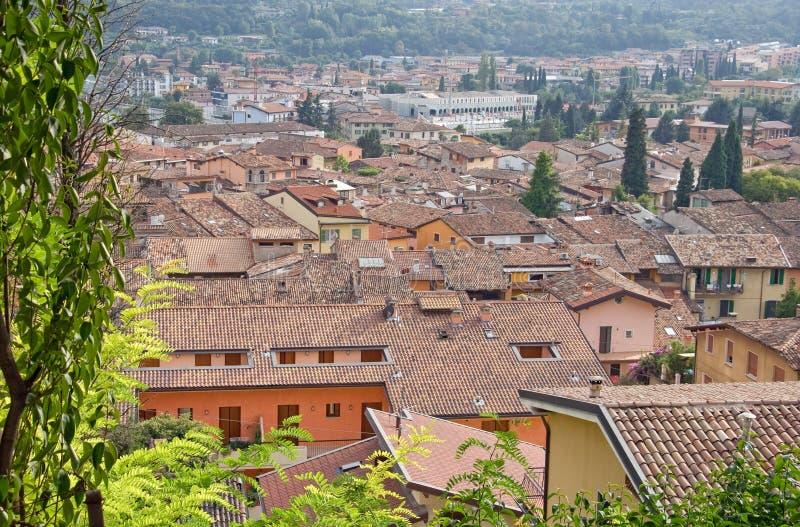 Daken in het Italiaans stad stock foto's