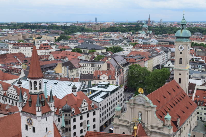 Daken in München royalty-vrije stock fotografie