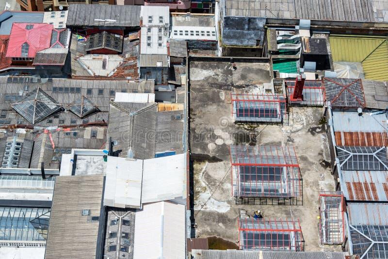 Daken in Manizales stock afbeelding