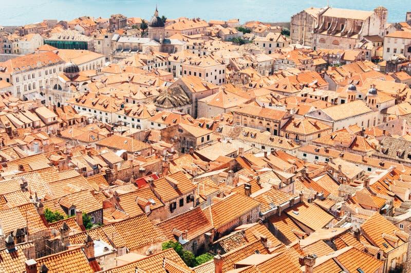 Daken van de Oude Stad, Dubrovnik, Kroatië stock fotografie