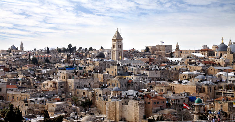 Daken van Jeruzalem royalty-vrije stock afbeelding