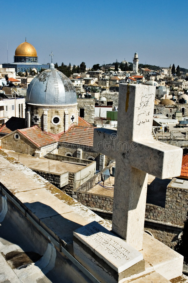 Daken van Jeruzalem stock foto