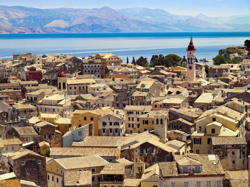 Daken van Korfu royalty-vrije stock foto's