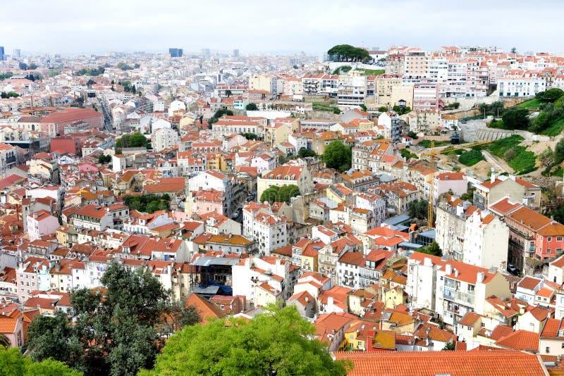 Daken van Lissabon stock fotografie