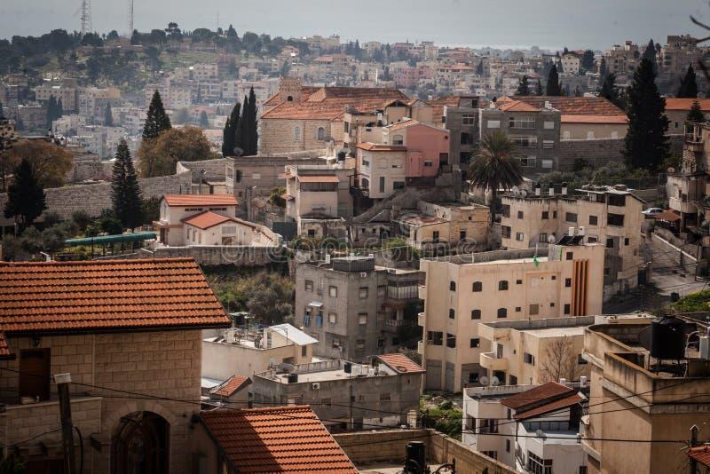 Daken van Oude Stad in Nazareth royalty-vrije stock fotografie