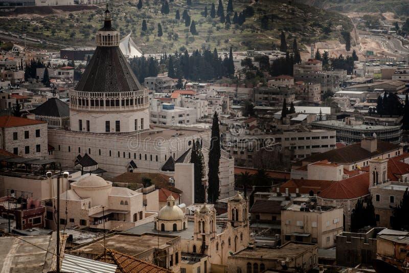 Daken van Oude Stad in Nazareth royalty-vrije stock afbeeldingen