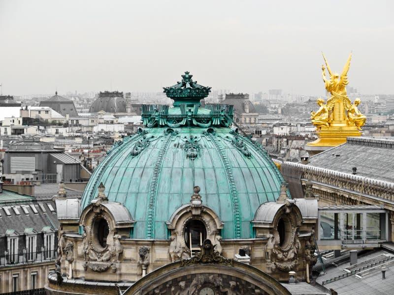 Daken van Parijs royalty-vrije stock afbeelding