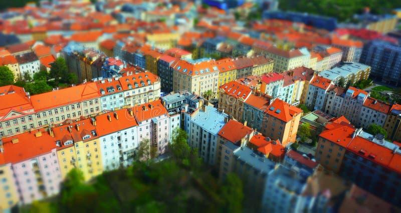 Daken van Praag stock afbeelding