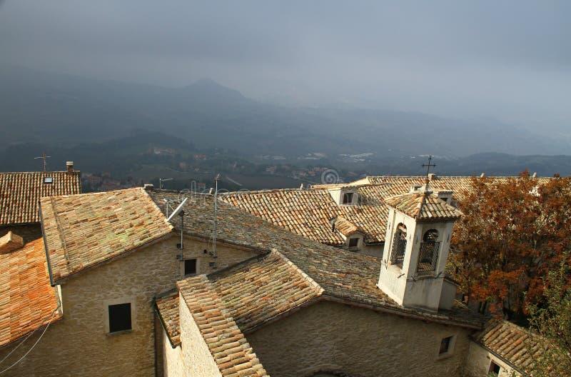 Daken van San Marino royalty-vrije stock fotografie