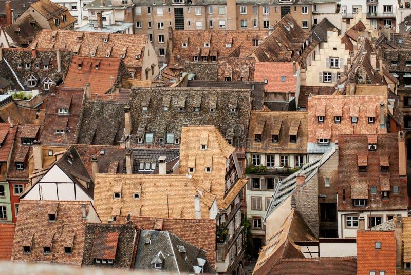 Daken van Straatsburg, Frankrijk alsace royalty-vrije stock afbeeldingen