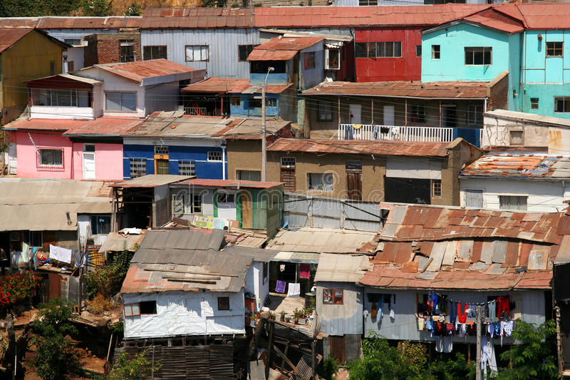 Daken van Valparaiso royalty-vrije stock fotografie