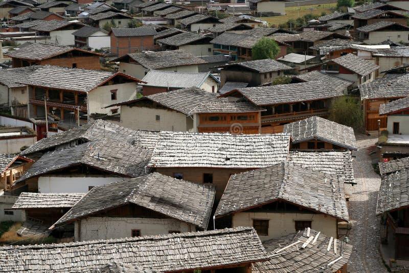Daken van Zhongdian royalty-vrije stock fotografie