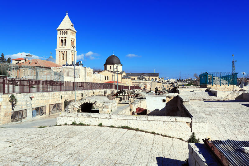 Dakexcursie in Oude Stad, Jeruzalem royalty-vrije stock foto's