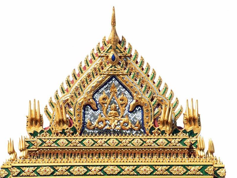 Dakgeveltop in Thaise stijl royalty-vrije stock foto
