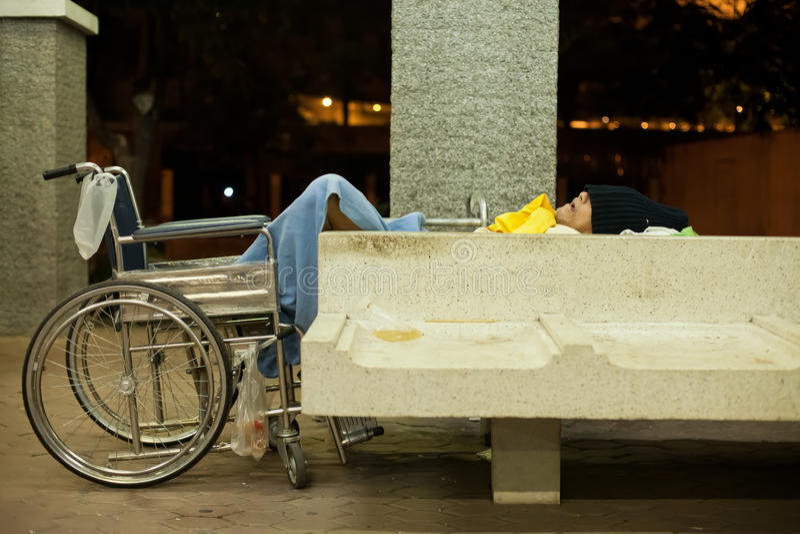Dakloze mens royalty-vrije stock foto