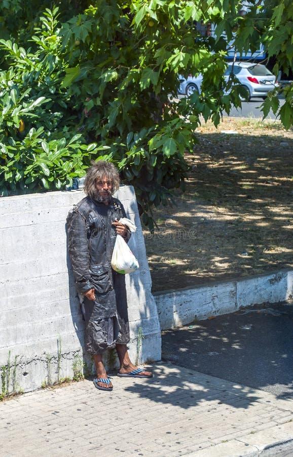 Dakloze mens royalty-vrije stock afbeeldingen