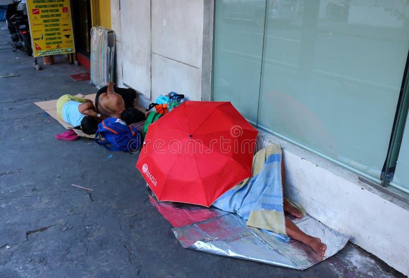 Dakloze mensen in Azië stock foto