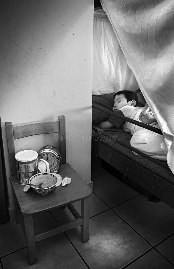 Dakloze vluchtelingen in Athene, Griekenland stock fotografie