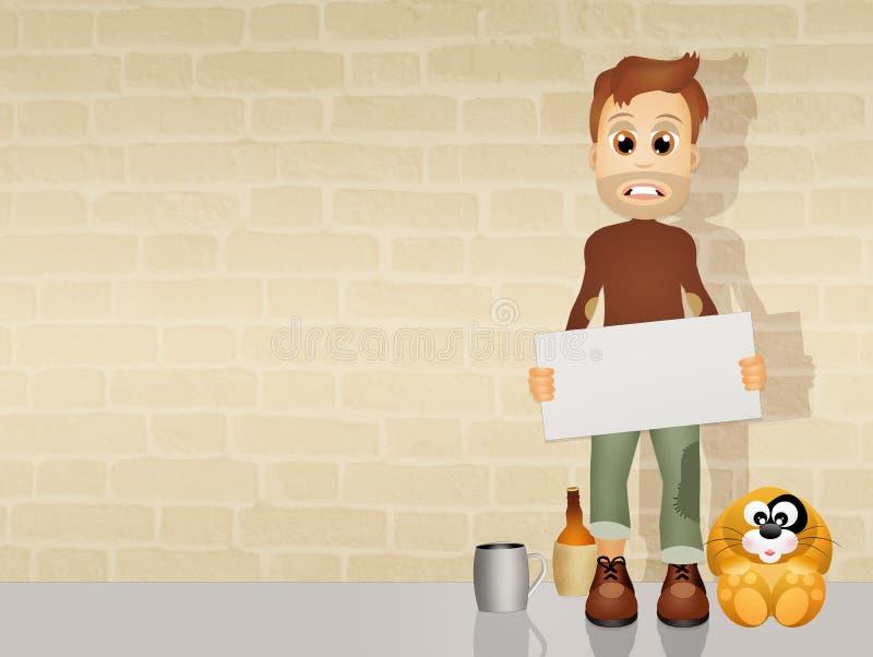 Download Daklozen stock illustratie. Illustratie bestaande uit daklozen - 54084515