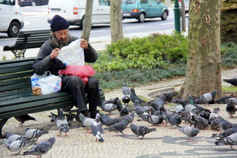 Daklozen amn stock fotografie