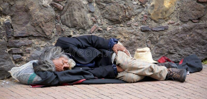 Daklozen in Bogota royalty-vrije stock fotografie
