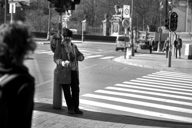 Daklozen in Brussel royalty-vrije stock afbeeldingen