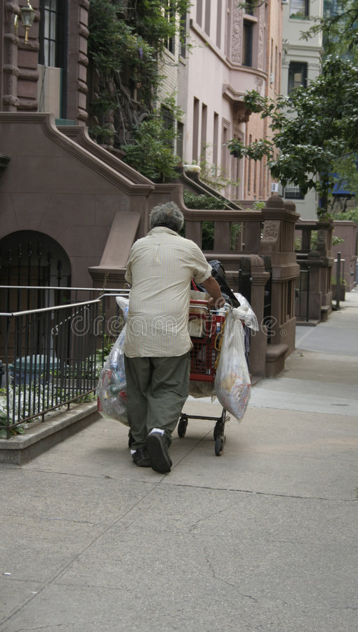 Daklozen in Manhattan stock fotografie