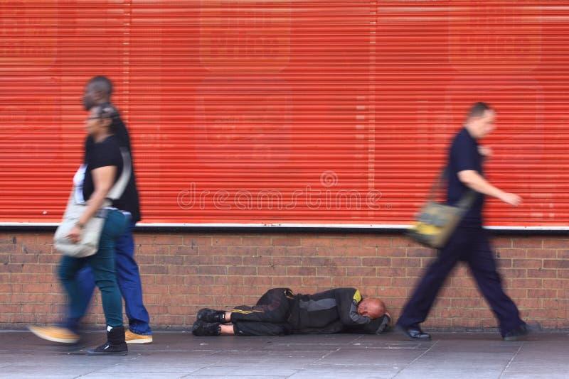 Daklozen op de straat