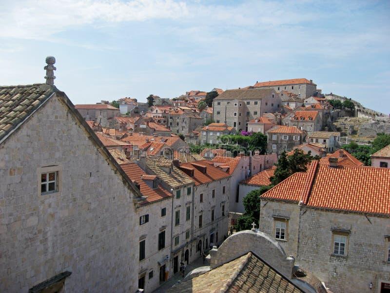 Dakmening van Dubrovnik Kroatië stock fotografie