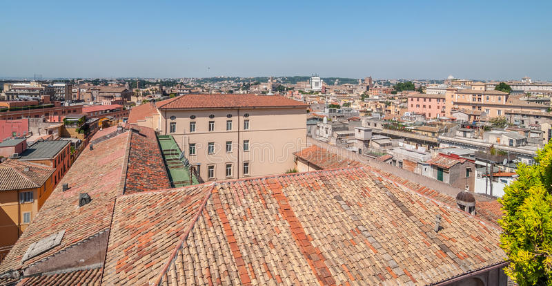 Dakmening van Rome royalty-vrije stock fotografie